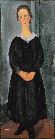 La Jeune Bonne (The Servant Girl) by Modigliani (ca. 1918) Albright-Knox Art Gallery
