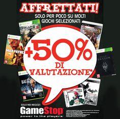 +50 % di Valutazione sui Tuoi Giochi | GameStop Italia