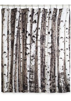 Beyond the Grove Shower Curtain, #ModCloth - thinking about adding fabric to the bottom and creating new bedroom curtains!  love a woodland theme