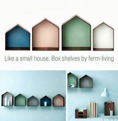 Box shelves, deco . Διακοσμηση τοιχου με ραφια - κουτια