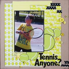 Scrappin' Sports & More: Tennis Anyone?