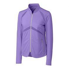 Cutter & Buck Mya Full Zip Jacket Golf Casual DryTech Annika Collection…