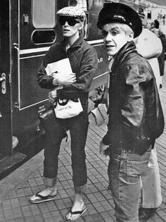 David Bowie, Iggy Pop. Copenhagen, April 29 1976.