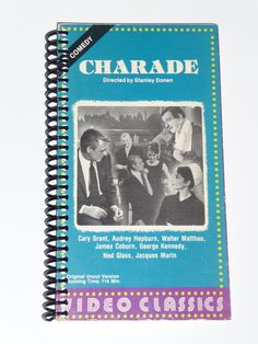 Charade - VHS Movie notebook