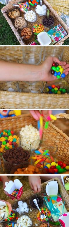 Want something sweet?! Than make ur very own candy basket! It's perfect for parties & gathering & etc!