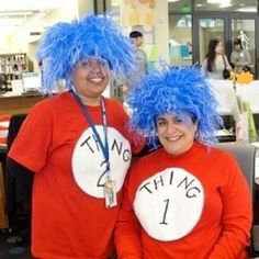 No Sew Thing One and Thing Two Costumes