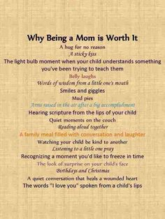 Nothing more joyous in the world than being a mommy:)