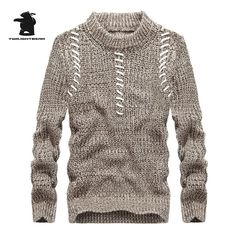 2017 winter new men's sweater brand fashion high quality plus size men casual sweater masculino pullovers M~3XL D8F8062 #Affiliate