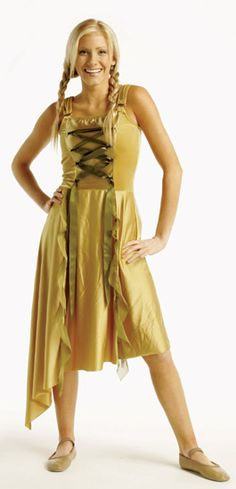 4086LG Gold damsel Color Guard costume from The Band Hall