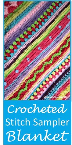 "Received the most ""clicks"" on the May 2015 #GreatBlogTrain - ""Crocheted Stitch Sampler Blanket by Let it Shine"