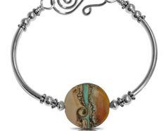 Boho Bangle Bracelet, Layering Bracelet, Beaded Bracelet Bangle, Bracelets for Women, Gift for Her, New Girlfriend Gift Bracelet, Gifts
