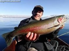 Crazy pretty spawning colors on this Tahoe rainbow trout caught by Mark Wiza