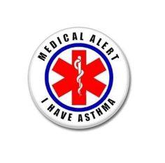 I Have Asthma Medical Alert Button!  #medicalalert #ihaveasthma #button #badge #pin