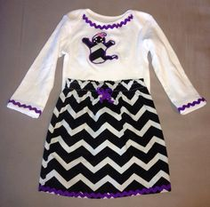 Halloween Chevron Ghost Outfit by KidsKuteKreations on Etsy, $20.00