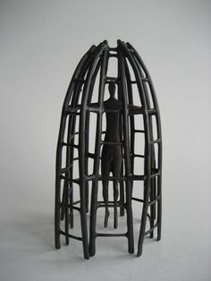 Melissa Young - Caged - cast bronze, (two pieces) Melissa Young, Contemporary Art For Sale, Nz Art, Paintings For Sale, Chandelier, Bronze, Ceiling Lights, Gallery, Home Decor