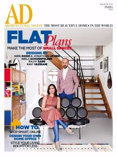 Architectural Digest May June 2015 Magazine by Conde Nast India Pvt. Small Space Design, Small Space Living, Living Spaces, Innovative Websites, Ad Architectural Digest, Flat Plan, Design Your Own Home, India Design, Indian Architecture
