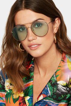 74eee71998a0 Gucci - Aviator-style glittered gold-tone sunglasses