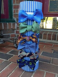 Colorful bow ties by USA maker Carrot & Gibbs.
