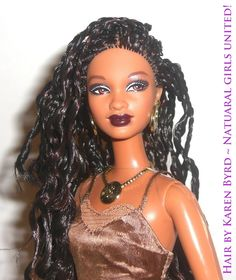Braided Hair Barbie  Hair by Karen Byrd  http://www.naturalgirlsunited.com