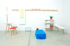 Peg Modular/Collapsible furniture by StudioGorm - no tools required