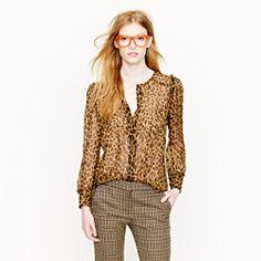 Collection leopard blouse...J Crew