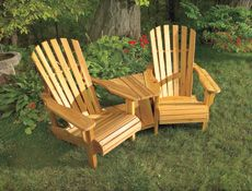 outdoor chairs tutorial and patterns. Home Hardware - Double Muskoka Chair  http://www.homehardware.ca/en/index/ summer project DIYchairs