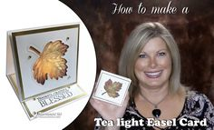 BLOG HOP & GIVEAWAY: How to make a Thanksgiving Teal Light Easel Card   Stampin Up Demonstrator - Tami White - Stamp With Tami Crafting and Card-Making Stampin Up blog
