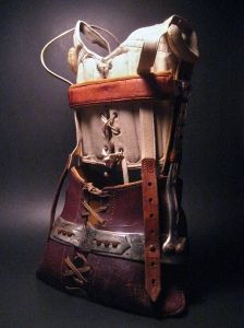 Leather and Metal Child's Medical Corset  Early 20thC France