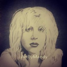 """Courtney Love drawing by Mandy Sowell Graphite~ 11"""" x 8.5"""""""