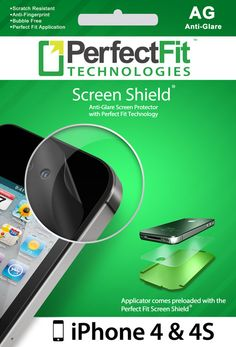 Anti-Glare iPhone 4/4S Screen Shield (Front Screen Protector) with Perfect Fit Applicator