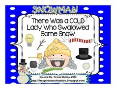 """There Was a Cold Lady Who Swallowed Some Snow from Teresa Gregorio on TeachersNotebook.com (33 pages)  - Over 30 Pages of Old Lady Fun!  These activities are based on the book, """" There Was a Cold Lady Who Swallowed A Bell"""" from the """"Old Lady Series""""  Included: *Noun and Verb Sort Center and Recording Sheet *Addition Center and Recording S"""