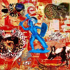 Out Of The Blue (recomposed) original canvas print 200 / 300 cm. #rolandfaesser #collage #canvas #painting #digitalart #popart #modernart #contemporaryart https://faesser.com/