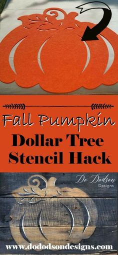 Easy DIY Pumpkin Decor using Dollar Tree decor. www.dododsondesigns.com