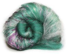 Spinning Fiber Art Batt  Merino Wool Silk Noils by KittyMineCrafts, $12.75 Spinning or Felting Wool - Art Batt Merino Wool, Silk Noils, tussah silk Field of Violets Approximately 1.6oz/ 48g More Kitty Mine Crafts Batts: http://www.etsy.com/shop/KittyMineCrafts?section_id=11959098