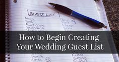 The number of guests you have at your wedding affects everything you do while planning, but creating the list can seem like an incredibly difficult task to start. We are here to help! Wedding guest...
