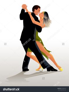 Couple Dancing Tango - Vector Illustration - 453290197 : Shutterstock