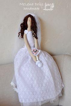 Portrait tildas for my friends` wedding. Bride & Groom MeLena Dolls by Elena Kolodko www.facebook.com/melenadolls