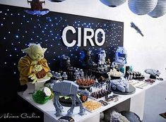 Kara's Party Ideas Star Wars Boy Yoda Darth Vader Space Birthday Party Planning Ideas