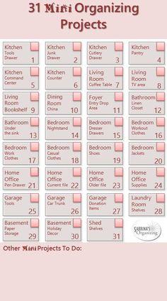 31 mini organizing projects - Easy DIY summer organizing project idea