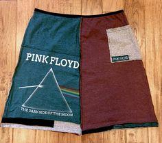 Pink Floyd Upcycled skirt, Upcycled tshirt skirt, Upcycled clothing, Festival clothing, Women's upcycled Size XXLarge by Theupcycledcloset on Etsy