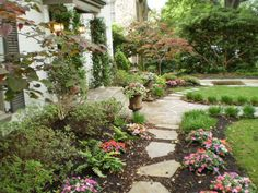 landscape for front of house going to side yard House Landscape, Landscape Design, Garden Design, Side Yard Landscaping, Landscaping Plants, Landscaping Ideas, Pergola Pictures, Outdoor Garden Furniture, Garden Structures