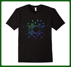 Mens Vintage style triple Moon goddess art retro Pagan tee Small Black - Retro shirts (*Amazon Partner-Link)