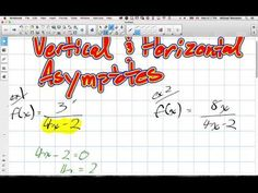 Vertical and Horizontal Asymptotes Grade 12 Advanced Functions Lesson 3 ...