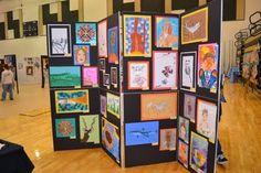 Collaborative Art Projects For Kids Auction Display 64 Ideas Art Display Panels, Display Boards, Collaborative Art Projects For Kids, Art Walk, Spring Art, Preschool Art, Art Classroom, Art Festival, Teaching Art