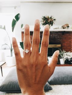 and Daniel's Proposal Story on how they asked :) Swooning over this stunning three stone oval engagement ring!Swooning over this stunning three stone oval engagement ring! Pam Pam, Rose Gold Diamond Ring, Solitaire Diamond, Solitaire Rings, Band Rings, Oval Diamond, Oval Rings, Diamond Jewelry, Three Diamond Ring