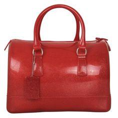 Ecosusi Women Glamorous Glitter Doctors Style Designer Purse Candy Satchel Handbag (Red)