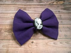 Purple Skull Hair bow alligator clip girls by LovelyYouAccessories, $5.75