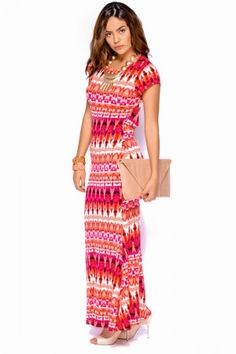 Printed Backless Summer Maxi Dress | La Mode