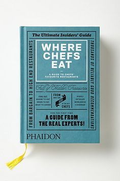 Where Chefs Eat #anthropologie #anthrofave