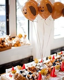 Make Puppy Dog Balloons Throw A Young Child Fun Birthday Party With Inspired Decor Food Favors And More From Darcy Miller The Martha Stewart